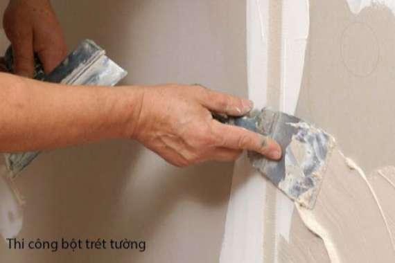 Cách pha bột trét tường đúng kỹ thuật